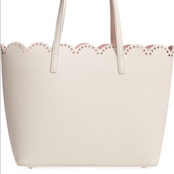 bp Handbags - BP Scalloped Faux Leather Tote